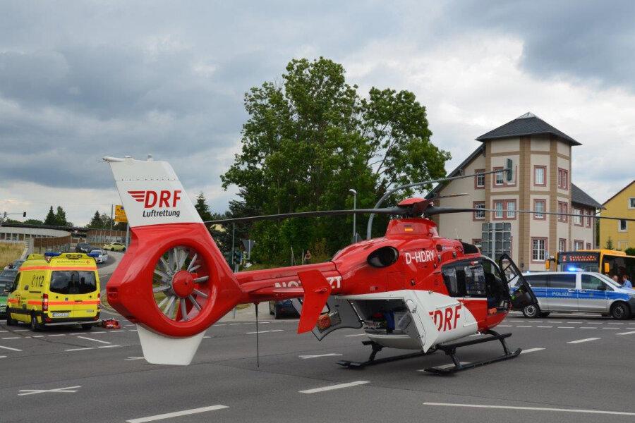Rettungseinsatz: Schwerer Unfall in Flöha