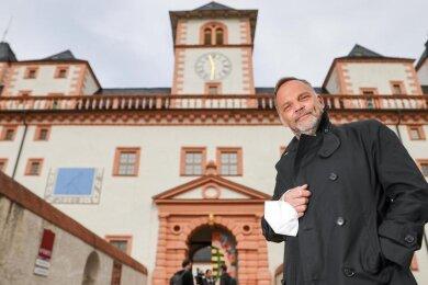 Dirk Neubauer (SPD), Bürgermeister der Kleinstadt Augustusburg.
