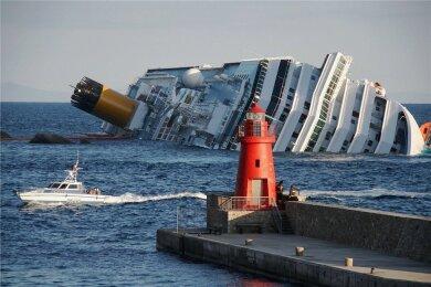 Die havarierte Costa Concordia.