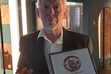 Egon Weißflog nach der Preisübergabe in Annaberg.
