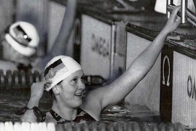 Bei der WM 1982 bezwang Ines Geißler über 200 Meter überraschend Weltrekordlerin Mary Meagher (USA).