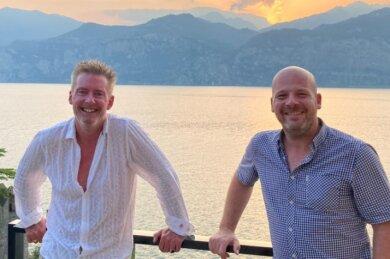 Nico Kunz (links) und Ronny Hofmann trafen sich in Malcesine am Gardasee.