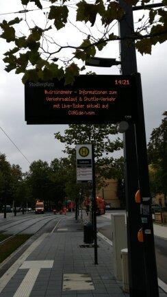Das Konzert führt zu Fahrplanabweichungen im Nahverkehr von Chemnitz.