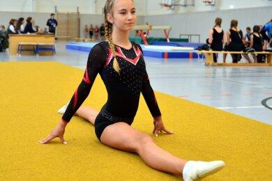 Larissa Haack startete als Lokalmatadorin für Fortschritt Mittweida und bescherte dem TSV drei Goldmedaillen.