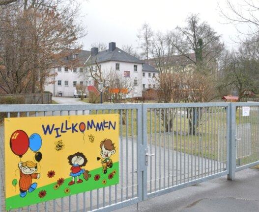 """Wegen Corona-Erkrankungen und Quarantäne geschlossen: Die Kita """"Sonnenglanz"""" in Brand-Erbisdorf."""