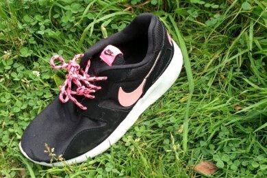 Ein Schuh am Ufer des Pöhlteiches wirft die Frage auf, was aus dem Träger oder der Trägerin geworden ist.