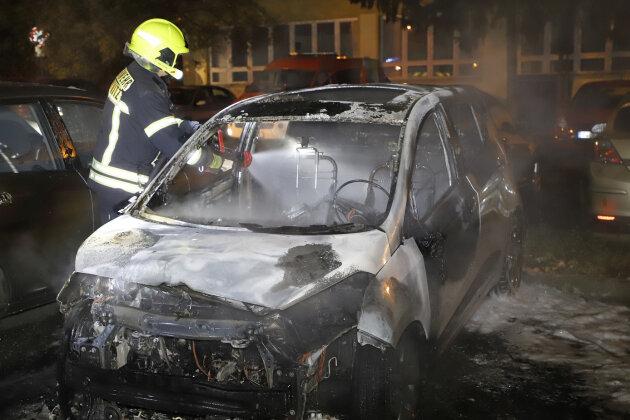 Fahrzeug in Chemnitz Markersdorf ausgebrannt