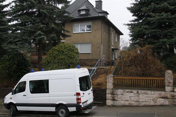 Im ersten Stock dieses Hauses fand die Polizei die Tote.