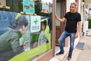 Im Haus Weststraße 78 haben Oliver Nießlein und seine Mitstreiter vom Verein Human Aid Collective/Hilfsorganisation ein neues Domizil gefunden. Von dort aus wollen sie auf unterschiedlichen Wegen die Chemnitzer für die Not anderer Menschen sensibilisieren.
