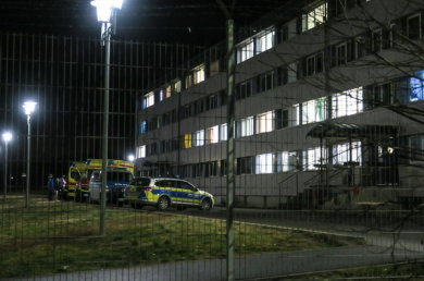 Am Freitagabend rückte die Polizei zum Asylbewerberheim in Schneeberg aus.