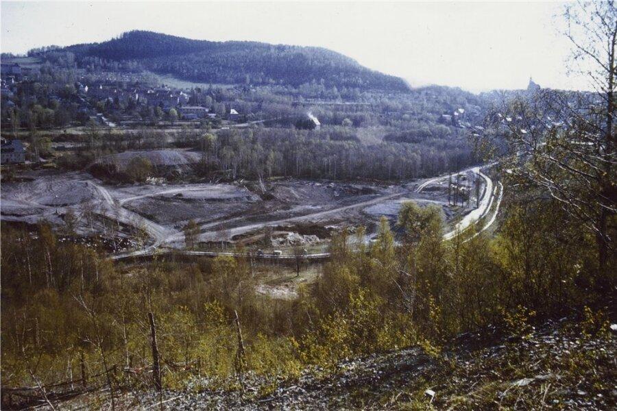Das Archivfoto zeigt das Deformationsgebiet vom Hammerberg aus,...