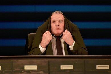 """Dirk Glodde als """"lächerlicher Mensch""""."""