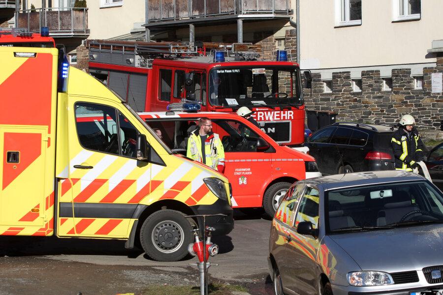 Feuerwehreinsatz in Plauen: Kamin verqualmt Dachgeschosswohnung