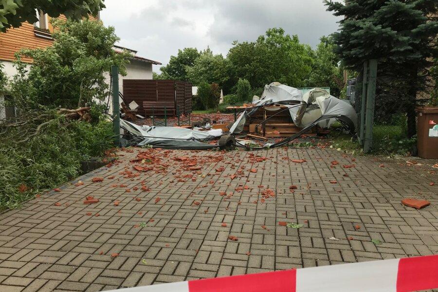 Sturm wütet in Tauscha
