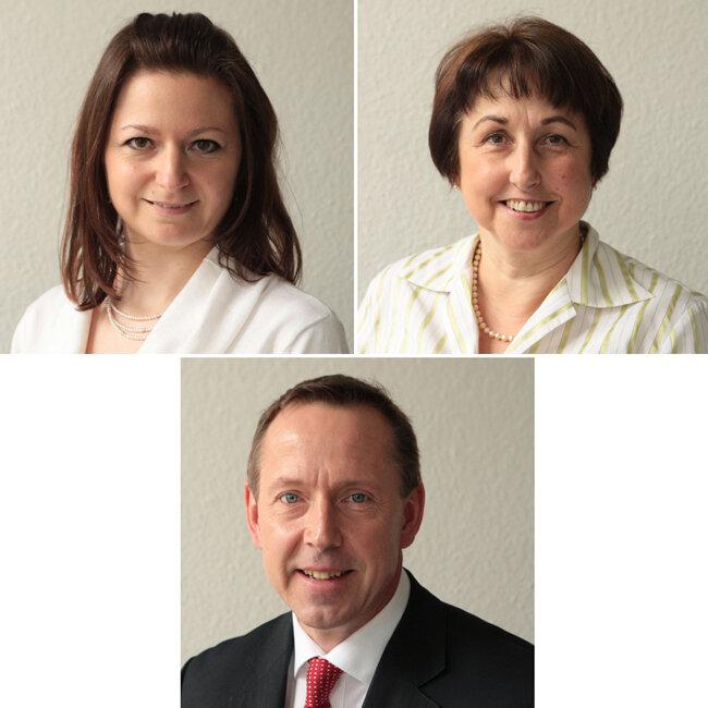 Die Experten: oben: Cornelia Neukirchner und Barbara Junghanns; unten: Ullrich Reck.
