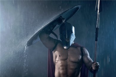 Gladiator im Regen.