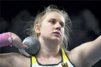 Katharina Maisch bei der Hallen-EM in Torun, ihrer ersten großen internationalen Meisterschaft, in Aktion.