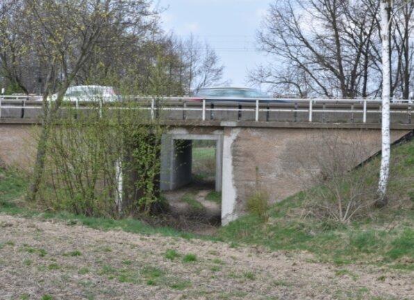 Diese Brücke am Ortsausgang Freiberg Richtung Oberschöna soll neu gebaut werden. Derzeit läuft dazu ein Planfeststellungsverfahren; die Unterlagen liegen bis zum 25. November 2020 aus.