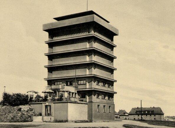 Der Wasserturm ist das wohl markanteste Gebäude in Reichenbach.