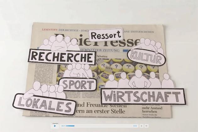 Videotutorials: Wie entsteht eine Zeitung gedruckt & digital?