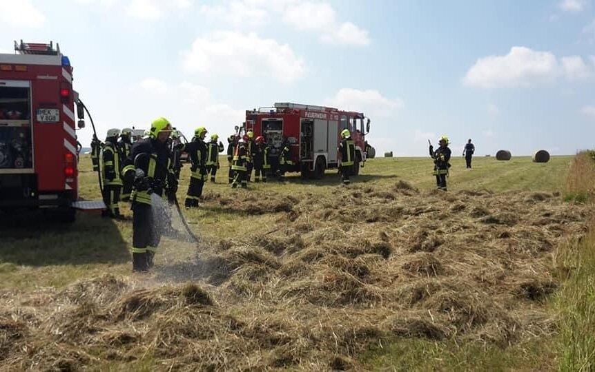 Feuerwehrleute bei Feldbränden in Satzung doppelt gefordert