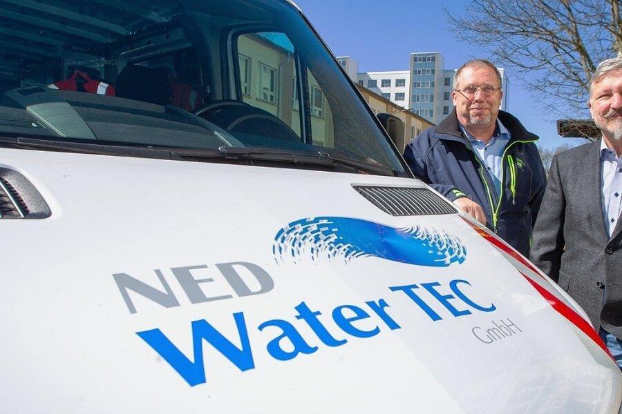Cheftechniker Falk Engelbrecht und Geschäftsführer Frank Nemetz gründeten vor sechs Jahren ihr Unternehmen am heimischen Schreibtisch.