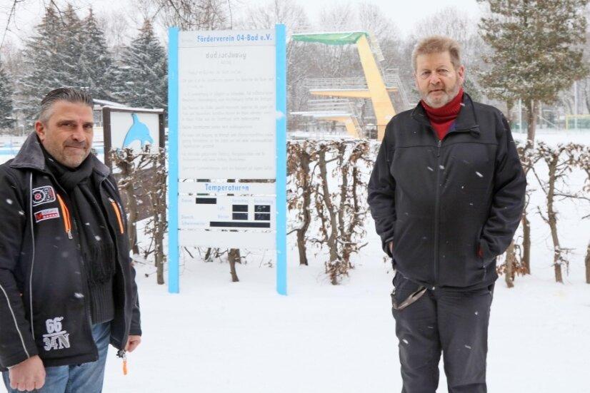 Arne Pflug (links) und Michael Reinhold vom Förderverein würden weitermachen - es liegt am Stadtrat.