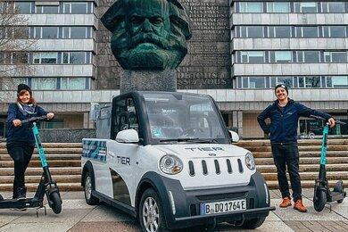 Der E-Scooter-Verleiher Tier Mobility setzt in Chemnitz ab sofort den Elektrovan Ari 458 des Herstellers Ari Motors aus Borna ein, um seine Roller zu warten.