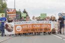 """Etwa 700 Abtreibungsgegner nahmen am """"Schweigemarsch für das Leben"""" teil."""