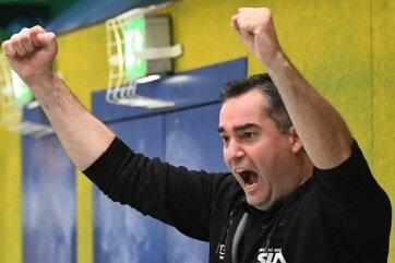 Unter Chef-Coach Stephan Swat gab es bei den Zweitliga-Handballern des EHV Aue wieder öfters Grund zum Jubeln.