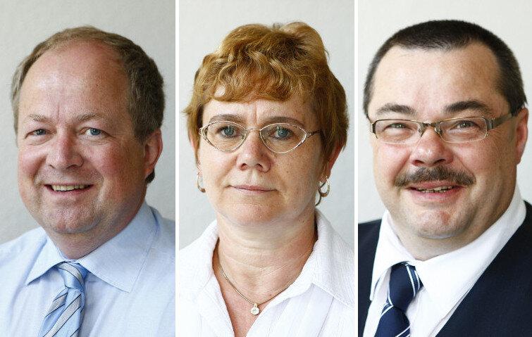 Gefragte Versicherungsexperten: Ulrich Grolik, Elke Krutzsch und Mario Jordan (v.l.n.r.)