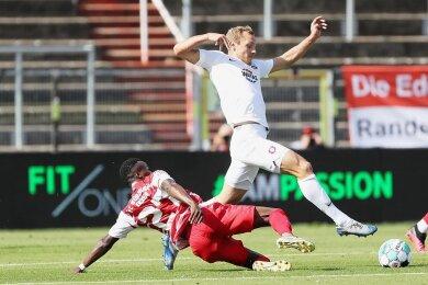 Beim 3:0-Sieg gegen die Würzburger Kickers gab Ben Zolinski am vergangenen Sonnabend nur drei Tage nach seiner Verpflichtung das Debüt im Auer Trikot.