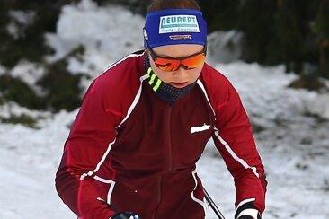 Skilangläuferin Anne Winkler vom SSV Sayda steht voll im Training. Trotz Corona hofft die 24-Jährige auf möglichst viele Wettkämpfe.