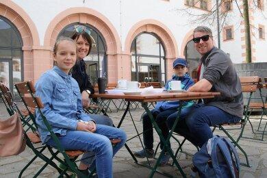 Das Modellprojekt machte es möglich: Familie Swoboda reiste Anfang April extra aus Leipzig an, um freie Zeit in Augustusburg zu verbringen.