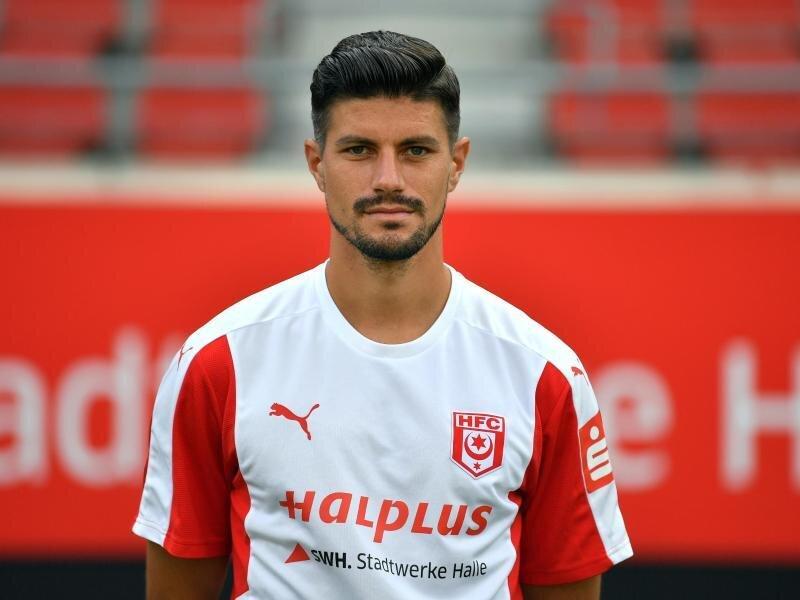 Stefan Kleineheismann erzielte das 2:0 für den HalleschenFC.