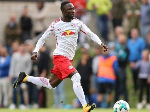 Naby Keita erzielt das 1:0 gegen Werder Bremen