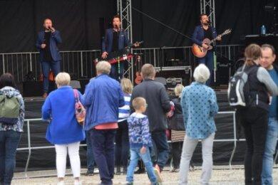 Die Band Notendealer beim Stadtfest 2020 in Burgstädt.