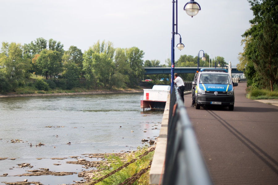 Bombe in der Magdeburger Elbe erfolgreich entschärft