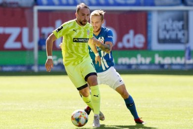 Fabio Viteritti (l.) erzielte den Ausgleich für den FSV Zwickau.