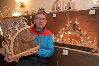 Er ist der Schwibbogenkönig 2019: Ralf Köhler aus Stollberg.