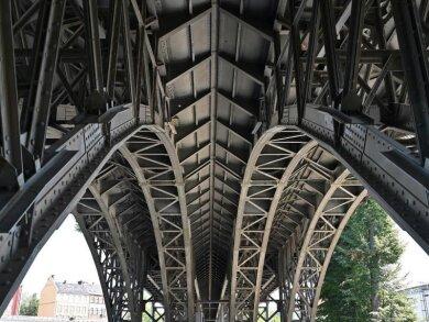 Blick auf das historische Chemnitz Viadukt.