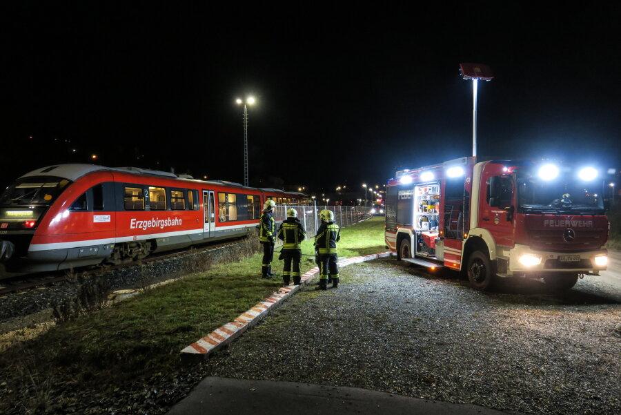 Zugstrecke bei Aue-Bad Schlema wieder frei