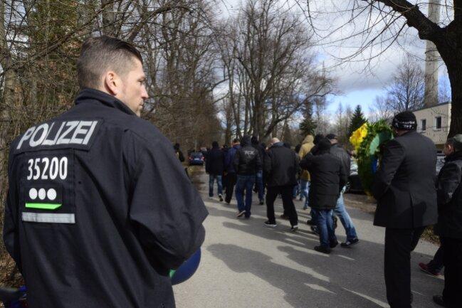 Polizisten aus Berlin, Brandenburg, Sachsen-Anhalt und Thüringen waren im Einsatz.