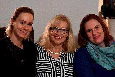 Petra Rosenkranz mit ihren Töchtern Nicole (l.; 38 Jahre) und Claudia (34), die einige Zeit erfolgreich auf den Spuren ihrer Mutter wandelte.