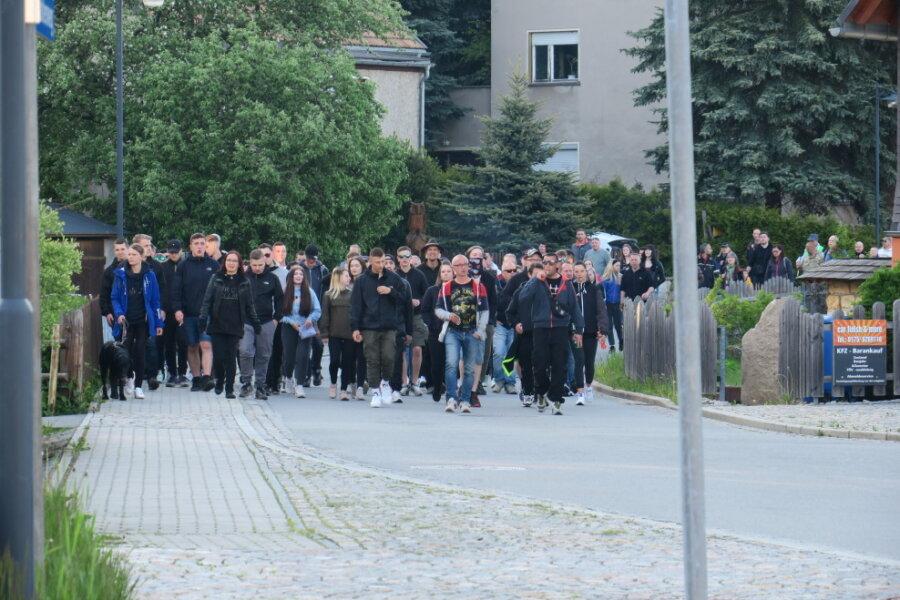 Reichlich 220 Teilnehmer bei Corona-Protest in Zwönitz