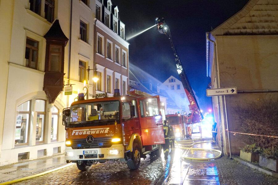 Dachstuhlbrand in Mittweida