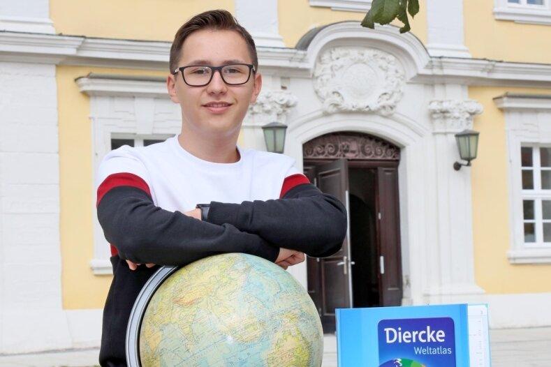 Liam Raimer ist zum zweiten Mal hintereinander Sachsens bester Geografie-Schüler geworden.