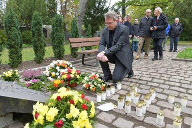 Bereits am Nachmittag gedachte OB Sven Krüger der Opfer des Bombenabwurfs.