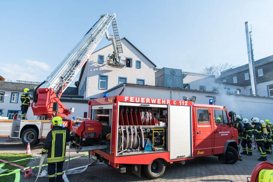 Feuerwehr probt den Ernstfall