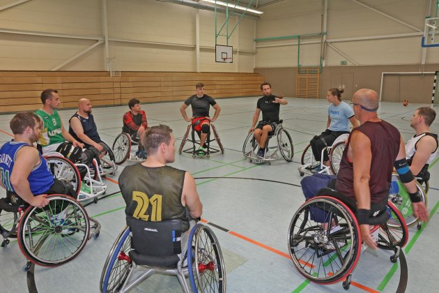 Trainingsstart bei den Rollstuhlbasketballern